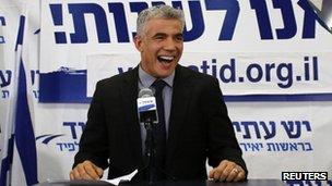 Yair Lapid, leader of the Yesh Atid party. Photo: 23 January 2013
