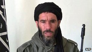 An undated grab from a video obtained by ANI Mauritanian news agency reportedly shows former Al-Qaeda in the Islamic Maghreb (AQIM) emir Mokhtar Belmokhtar
