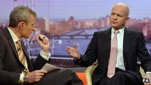 Jeremy Vine and William Hague
