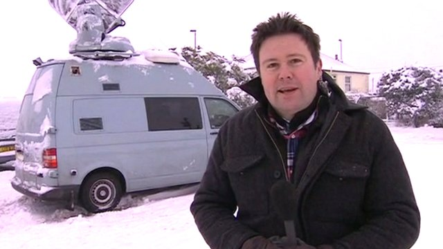 The BBC's Jon Kay in Somerset