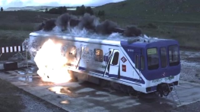 Bomb-proof train testing