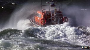 Peel lifeboat courtesy RNLI