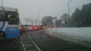 There were long tailbacks heading into Castlereagh at rush hour on Wednesday