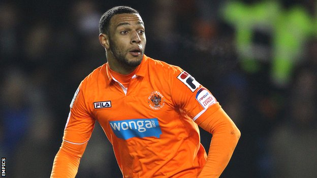 Blackpool winger Matt Phillips