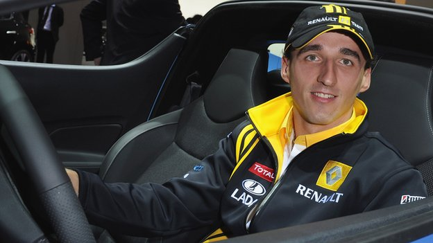 Robert Kubica before his rally crash