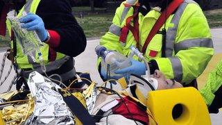 Robert Kubica is taken to hospital after his crash