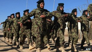 Women training for the Afghan National Army