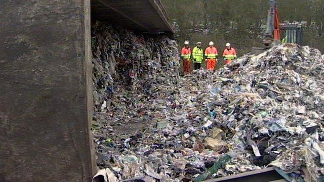Rubbish strewn across the A12 in Essex