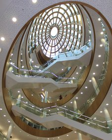 The foyer of the new annexe of Liverpool Central Library