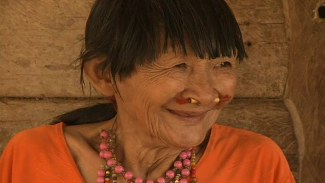 Bose Yacu, a member of the Pacahuara tribe in Bolivia