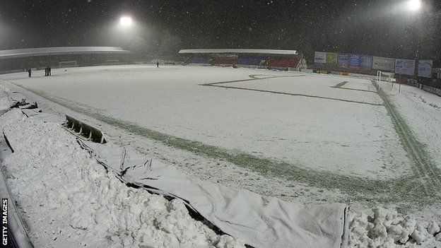 Aldershot Town's EBB Stadium ahead of their match against Northampton