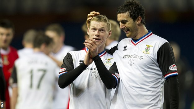 Inverness beat Rangers 3-0 to reach the League Cup semi-final