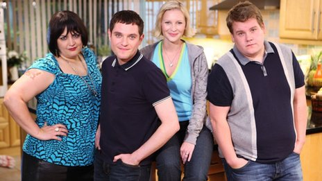 Ruth Jones, Mathew Horne, Joanna Page and James Corden