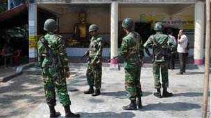 Tight security around damaged Buddhist temples