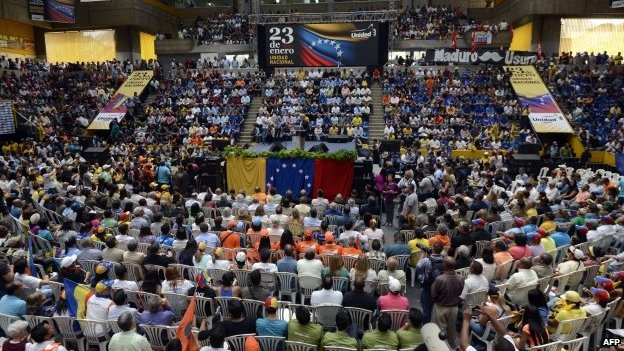 Venezuelan opposition rally on 23 January