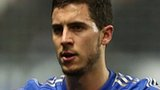 Chelsea's Eden Hazard after kicking the ball boy
