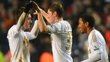 Swansea celebrate at full-time