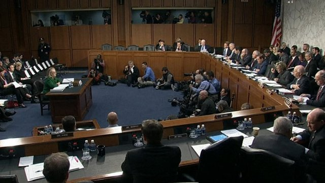Hillary Clinton at hearing