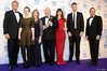 Downton Abbey creator Julian Fellowes (centre) with cast