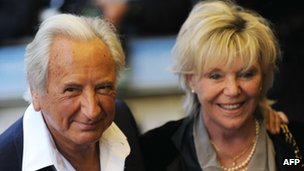 Michael Winner and wife Geraldine