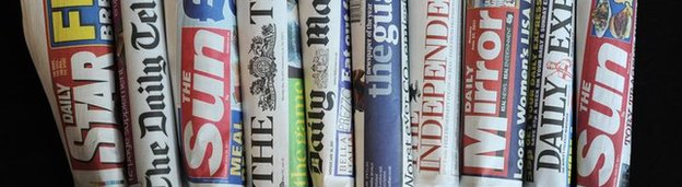A generic picture of UK newspapers