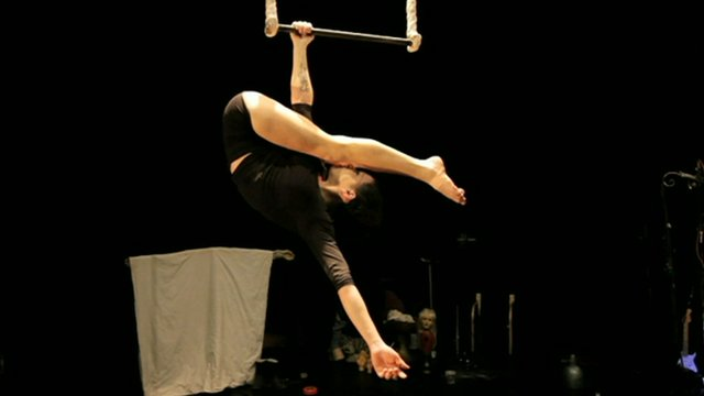 Eva Ordonez Benedetto on a trapeze