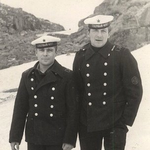 Volodya Gusev (left) and Anatoly Kulakov - two K-27 sailors now dead
