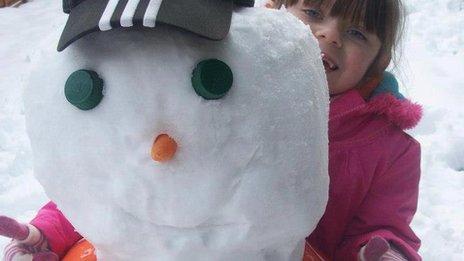 Luton Town snowman