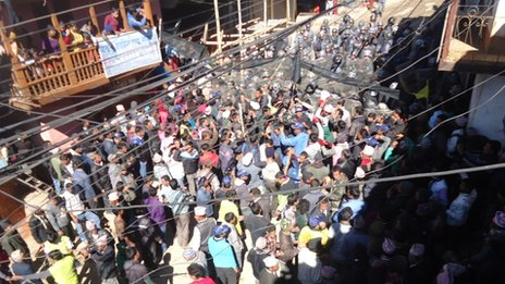 Protests in Dailekh on 23 January 2013