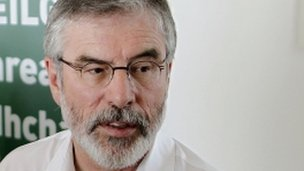 Gerry Adams issued a statement about the allegations