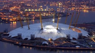 Millennium Dome before London 2012