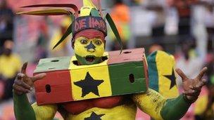 A Ghana supporter