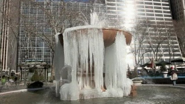 Frozen fountain