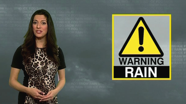 Behnaz Akhgar reads the weather forecast