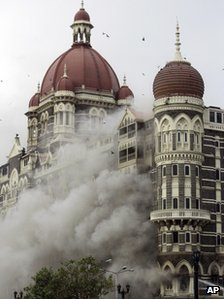 Mumbai's Taj Mahal hotel under attack in November 2008