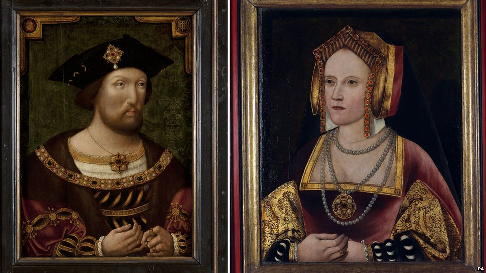 Portraits of Henry VIII and Catherine of Aragon at the National Portrait Gallery in London