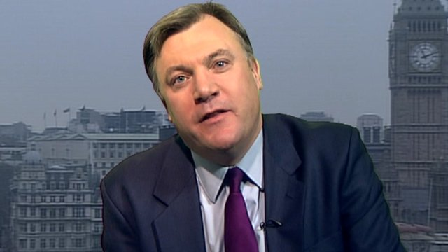 The shadow chancellor, Ed Balls