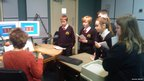 Hameldon Community College students visit BBC Radio Lancashire