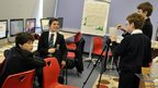 Marden High School students film their weather report