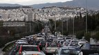 Traffic jam in Athens