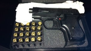 Single boxed BBM pistol
