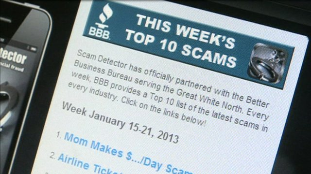 The week's top 10 scams