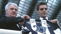 Sir Bobby Robson and Jonathan Woodgate