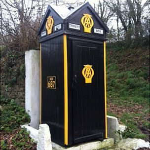 AA call box in Trinity, Jersey