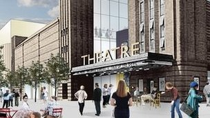 Artist's impression of Chester theatre and culture complex