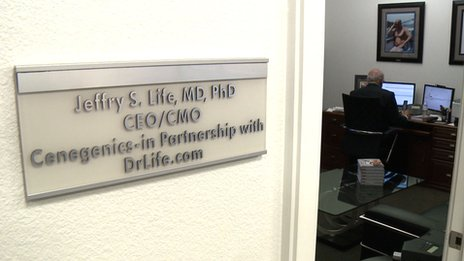 Dr Life in his office