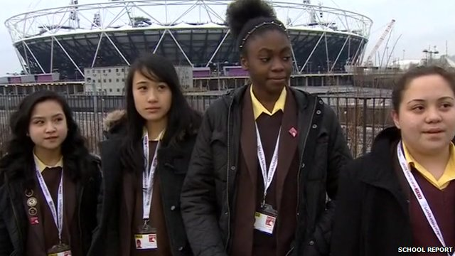 School Reporters from St Angela&#039;s Ursuline School live on the BBC News Channel