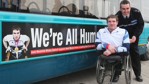 Paralympic gold medallist Mickey Bushell