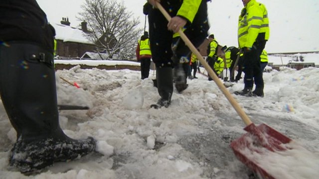Clearing snow