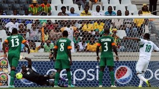 Mikel misses a penalty for Nigeria